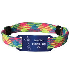 Personalized Volleyball Lace Bracelet Player Adjustable Sport Lace Bracelet