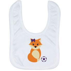 Soccer Baby Bib - Soccer Fox