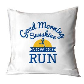 Running Throw Pillow - Good Morning Sunshine with Runner