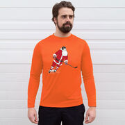 Hockey Long Sleeve Performance Tee - Slap Shot Santa