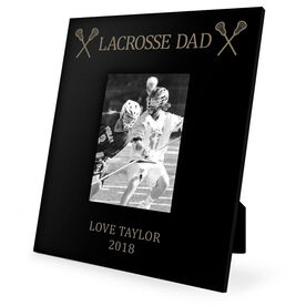 Guys Lacrosse Engraved Picture Frame - Lacrosse Dad