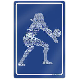"Volleyball Aluminum Room Sign Personalized Volleyball Player Words (18"" X 12"")"