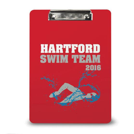 Swimming Custom Clipboard Swim Team Personalization Mens