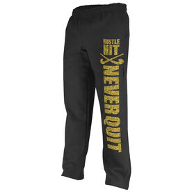 Field Hockey Fleece Sweatpants Field Hockey Hustle Hit Never Quit