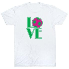 Soccer Tshirt Short Sleeve Love Soccer