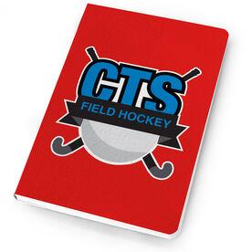 Field Hockey Notebook Custom Team Logo