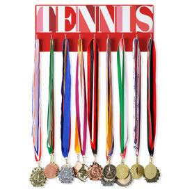 Tennis Hooked on Medals Hanger - Tennis Mosaic