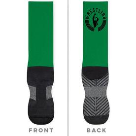 Wrestling Printed Mid-Calf Socks - Crest
