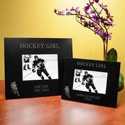 Hockey Engraved Picture Frame Hockey Girl