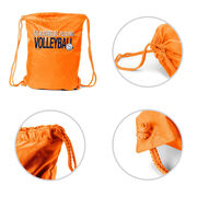 Volleyball Sport Pack Cinch Sack I'd Rather Be Playing Volleyball