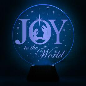 Acrylic LED Lamp - Joy To The World Nativity Scene