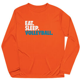 Volleyball Long Sleeve Performance Tee - Eat. Sleep. Volleyball.