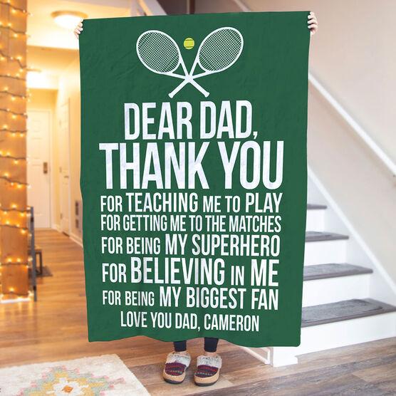 Tennis Premium Blanket - Dear Dad