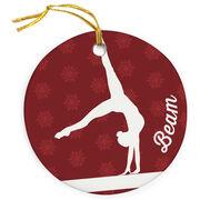 Gymnastics Porcelain Ornament Beam