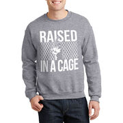 Baseball Crew Neck Sweatshirt - Raised in a Cage