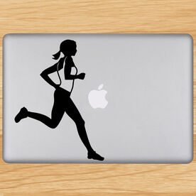 Running Girl Removable GoneForaRunGraphix Laptop Decal