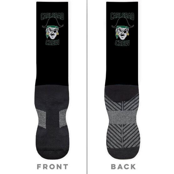 Crew Printed Mid-Calf Socks - Your Logo