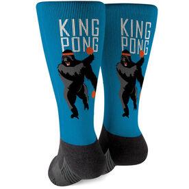 Ping Pong Printed Mid-Calf Socks - King Pong