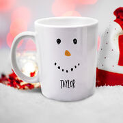 Snowman Face Personalized Mug