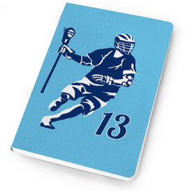 Guys Lacrosse Notebook Personalized Dodger Silhouette