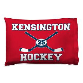 Hockey Pillowcase - Personalized Sticks And Puck