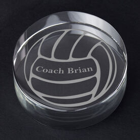 Volleyball Personalized Engraved Crystal Gift - Custom Ball