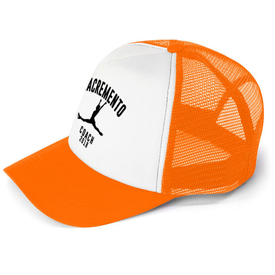 Figure Skating Trucker Hat - Team Name Coach With Curved Text