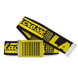 Lacrosse Lifestyle Belt Word Pattern