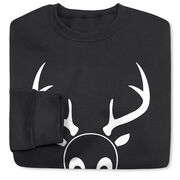 Softball Crew Neck Sweatshirt - softball reindeer
