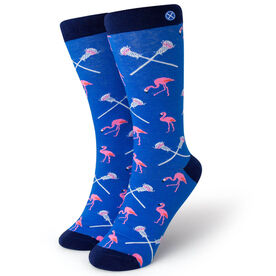 Men's Lacrosse Dress Socks - Flamingo
