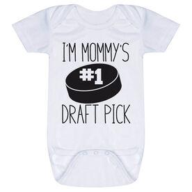 Hockey Baby One-Piece - I'm Mommy's #1 Draft Pick
