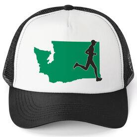 Running Trucker Hat - Washington Male Runner