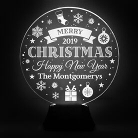 Acrylic LED Lamp - Christmas And New Year Sign
