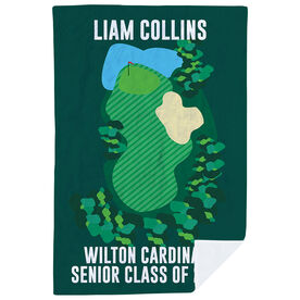 Golf Premium Blanket - Personalized Senior Class Of Golf Course