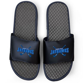 Field Hockey Navy Slide Sandals - Your Logo