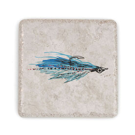 Fly Fishing Stone Coaster - Clouser