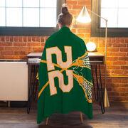 Girls Lacrosse Premium Blanket - Personalized Team with Crossed Sticks