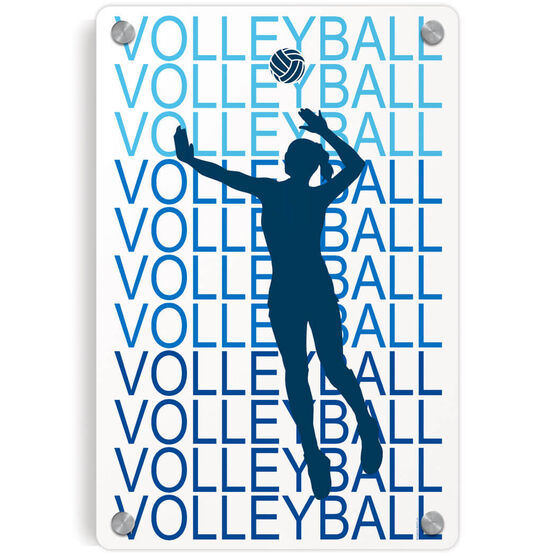 Volleyball Metal Wall Art Panel - Fade