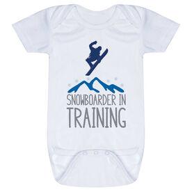 Snowboarding Baby One-Piece - Snowboarder In Training