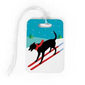 Skiing Bag/Luggage Tag - Vintage Dog