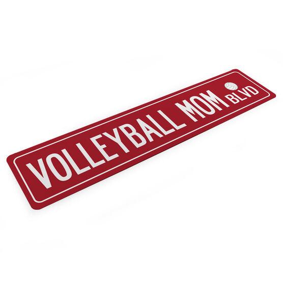 "Volleyball Aluminum Room Sign - Volleyball Mom Blvd (4""x18"")"