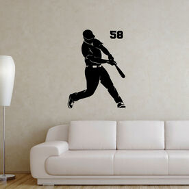 Baseball Batter Removable ChalkTalkGraphix Wall Decal