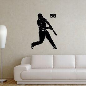 Baseball Batter Removable ChalkTalkGraphix Wall Decal