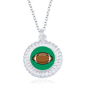 Football Braided Circle Necklace - Ball