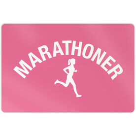 "Running 18"" X 12"" Aluminum Room Sign - Marathoner Girl"