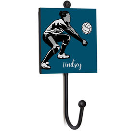 Volleyball Medal Hook - Silhouette With Name