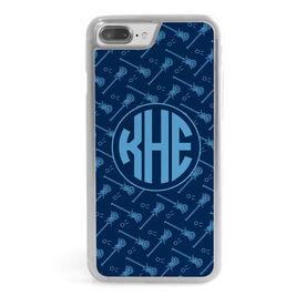 Girls Lacrosse iPhone® Case - Monogrammed Pattern Sticks