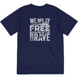 Baseball Short Sleeve Performance Tee - Because Of The Brave Baseball