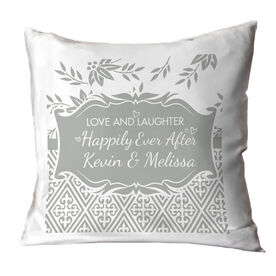 Personalized Throw Pillow - Happily Ever After