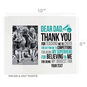 Cheerleading Photo Frame - Dear Dad
